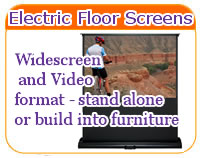 Sapphire Electric Floor Projector Screen